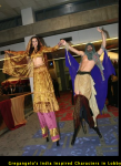 Gregangelo's India Inspired Characters in Lobby