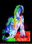 Black Light Character Massages in Illumination Spa