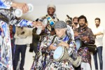 Drummers at Minnesota Street Project GENERA#ION Contemporary Art from Saudi Arabia exhibit