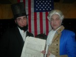 Abraham Lincoln and George Washington