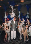 Arnold Schwarzenegger (Real) with Stratosphere Show Girls