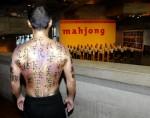 Chinese Writing Body Painting