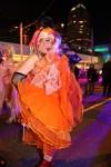 Cyndi Lauper in orange