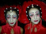 Red china dolls