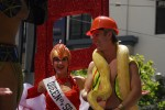 Hard Hat Snake Charmer with GG Bridges at Parade