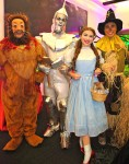 Dorothy, Scarecrow, Tin Woodman, Cowardly Lion and Toto