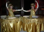 Gold table dress ladies
