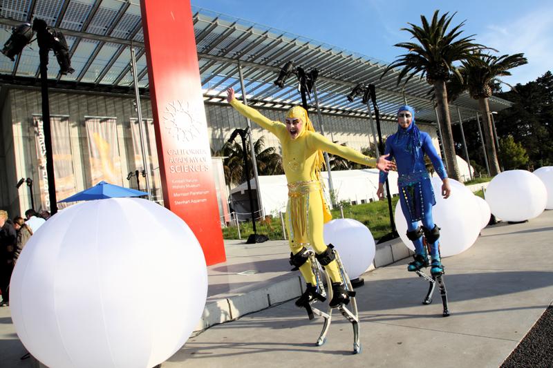 Velocity Power Stilts at California Academy of Sciences