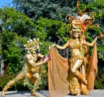 Gold Bacchus and Pomegranate Goddess