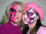 Pink face painting