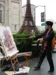 Parisian street artist:painter