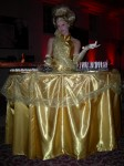 Gold table dress