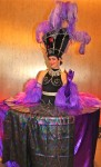 Purple Showgirl Table Dress