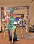 Reteo Stewardesses Walking the Gangway
