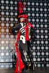Ringmaster Gaultier inspired fashion corset costume back