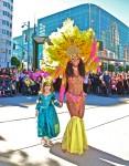 Samba with a little girl