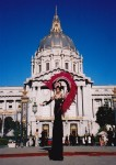 San Francisco Show Girl at City Hall