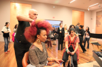 Velocity & Atelier Emmanuel's Gaultier Hair & Makeup studio at de Young museum