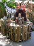 Strolling African Safari buffet table