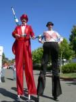 Red turn of century stilts
