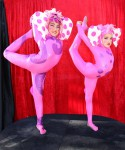 Baby Pink Elephant Contortionists