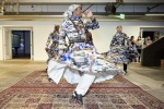Dancing and Drumming at Minnesota Street Project GENERA#ION Contemporary Art from Saudi Arabia exhibit