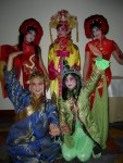 Asian fortune telling ensemble