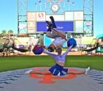 Acrobatic Baseball Player