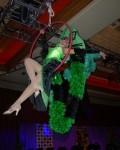 Green aerial showgirl