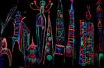 Beautiful Futuristic Urban Blacklight Backdrop