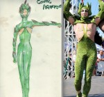 Asparagus Costume Drawing Comes to Life