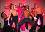Birthday girl with Chippendale Dancers