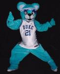 Cheerleaders and dancing bear mascot pump up the crowd!