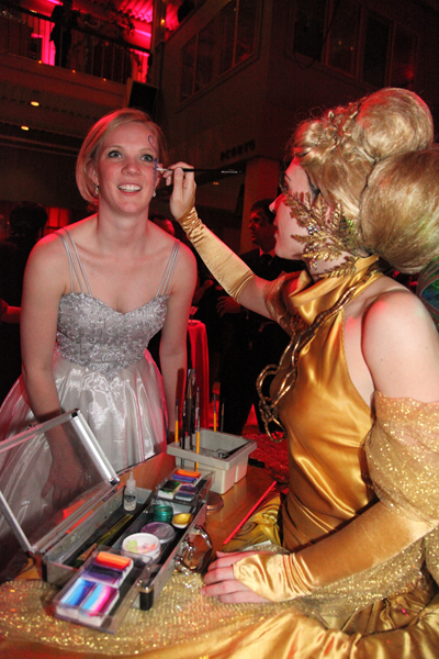 Golden face painting