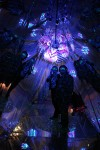 Guests enjoying 3D experience in Blacklight Labyrinth Installation