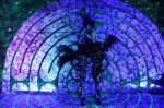 Illuminated Blacklight Ambient Characters in 3D Blacklight Labyrinth Installation