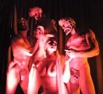Artemis living statues ensemble