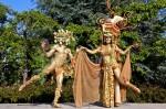 Gold Bacchus and Pomegranate Goddess