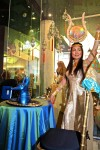 Isis in Gold Costume with Blu Makeup Table,