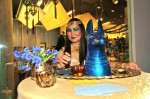 Blu Isis in Gold Costume & Makeup Table