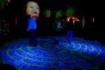 Illuminated labyrinth installations