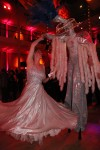 Interactive stilt dance