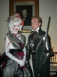 Madame and Monsieur Ghoul welcome you to their haunted palace