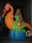 Mermaid on sea horse