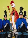 Mighty Majorette and her Good Ole Boys greet you with fancy baton manipulations and thunderous drumming