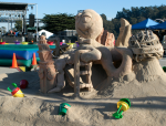 PeopleSoft Branding and Logo in a custom commissioned giant sandcastle