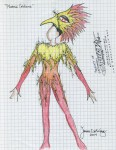 Phoenix Body Costume Drawing