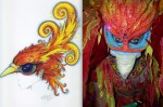 Phoenix Head Piece Drawing Comes to Life