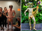 Body painting transformation -man to god