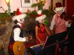 Christmas with little kids elves playing music